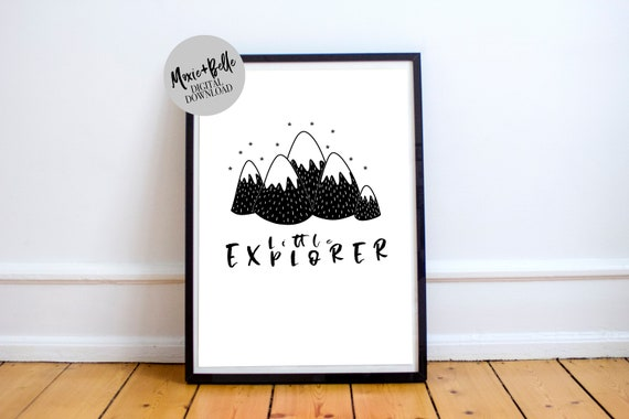 Little Explorer printable nursery art