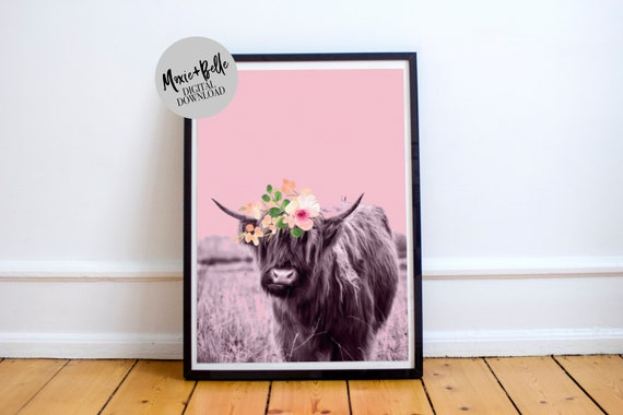 Highland Cow Nursery Printable