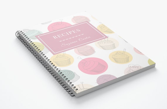 Cupcake customisable- Spiral Notebook