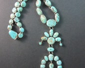 Federico Jimenez Rare Vintage Mined Royston Turquoise quot Kachina Maiden Naja quot 925 Necklace