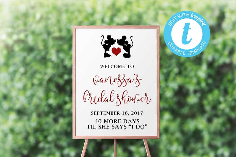 rsvp insert details card Fairytale Hidden Mickey Minnie Templett INSTANT TEMPLATE Disney Wedding Suite Magic Kingdom Flourish invitation