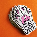 Feminist Vinyl Sticker | GRAB BACK | Pussy Grabs Back Decal | Smash the Patriarchy Sticker | Nasty Woman Weatherproof Stickers | UV Safe