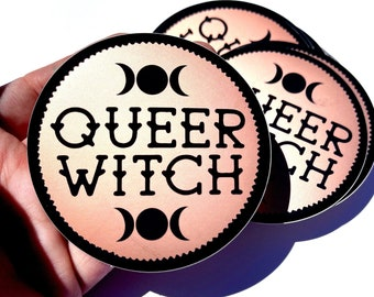 Queer Magic Rose Gold Matte Sticker