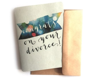 Happy divorce cards etsy