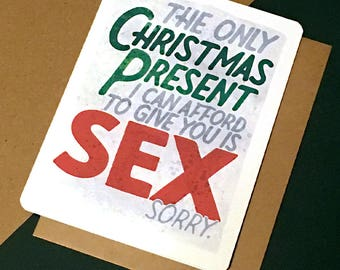 christmas sex christmas boyfriend card girlfriend holiday card naughty dirty xmas card inappropriate christmas card xmas