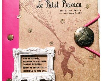 Little Prince journal pink elastic