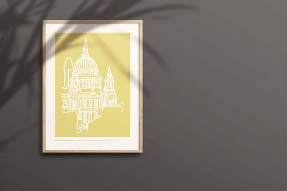 LONDON PRINT St Paul's Cathedral