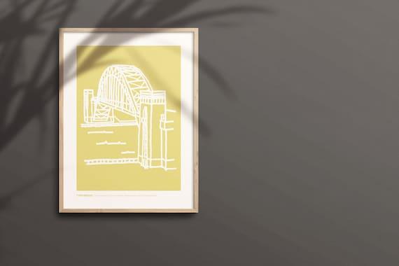 NEWCASTLE PRINT Tyne Bridge