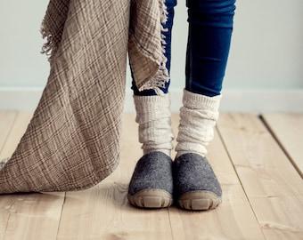 Mens shoes - Wool boots for men - Handmade Men's Shoes grey Men Shoes Travel Shoes Short Ankle Boots Felt handcrafted mens boots