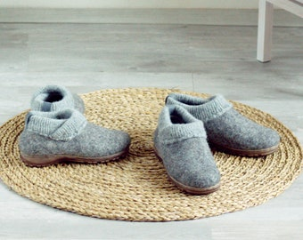 Ethical shoes from natural eco wool, organic footwear