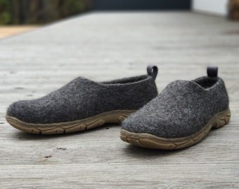 READY to SHIP in size EU46/us mens 12 Dark gray dress shoes handmade from cruelty free organic wool