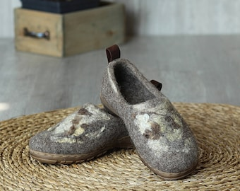 Felted outdoor footwear, wild decor ethical shoes