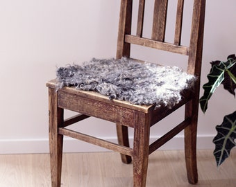 Dining room chair Sheepskin Cover, kitchen chair pad