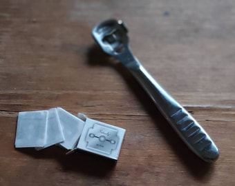 Skiver for leather, thinning blade for leather