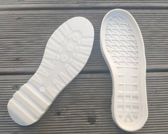White flexible rubber outsoles for your custom made shoes, soles for summer shoes, sports shoes soles