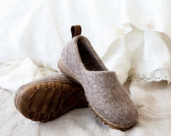 Felted shoes