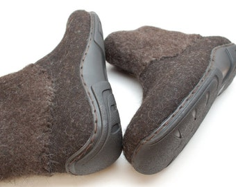 Rubber soles LARGE sizes for my felted clogs and booties - Winter shoes snow boots soles - black soles - soles for extral large sizes