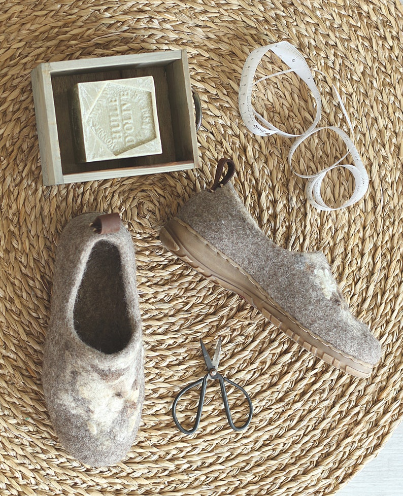 Felted outdoor footwear wild decor ethical shoes