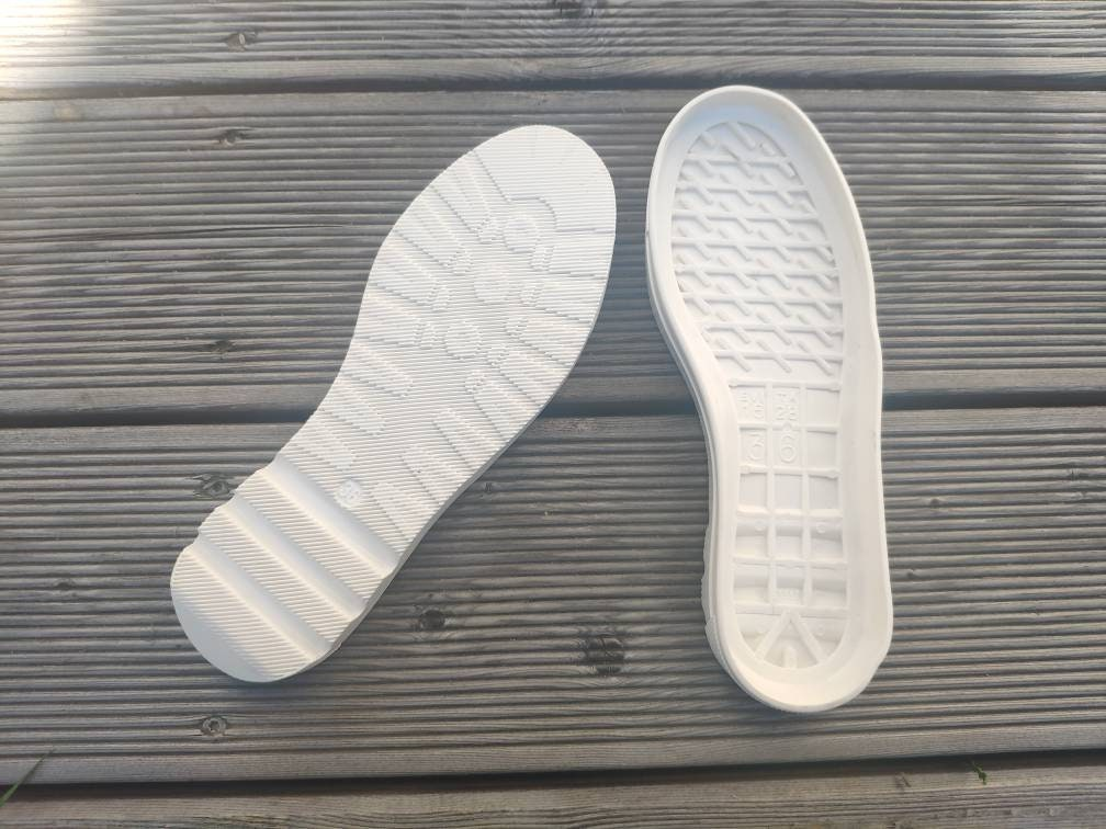 White flexible rubber outsoles for your