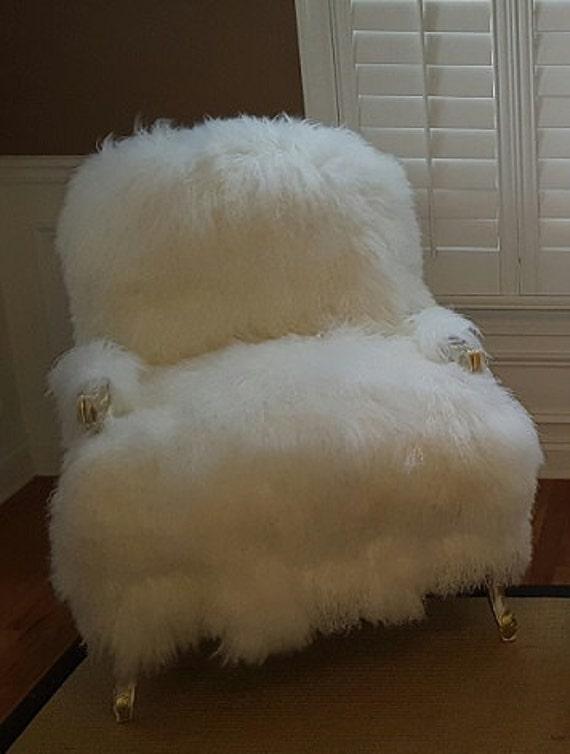 Fabulous Fur Chair Sheepskin And Ottoman Set Alphanode Cool Chair Designs And Ideas Alphanodeonline