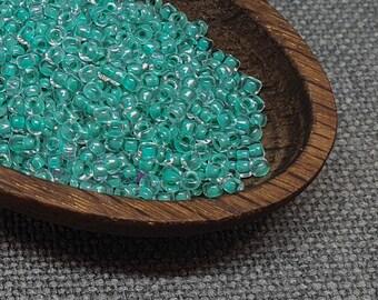 10 Gm, 1//2 Kilo #CSB077 6//0 Sea Blue Lined Crystal Seed Bead