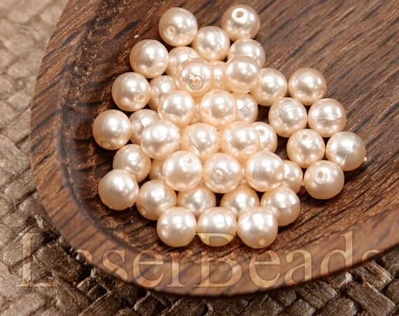 100pc 4mm Rose perle perles lumière orange enduit perles tchèque druk perles saumon rose 4mm ronde perles de dernière