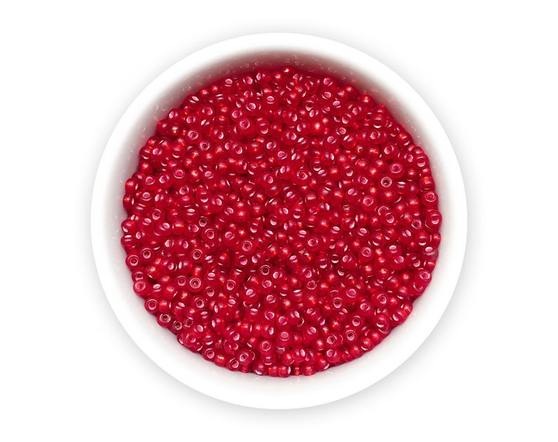 Preciosa Ornela glass Nr 542 02079 Czech rocailles 20g 110 Red seed beads frosted