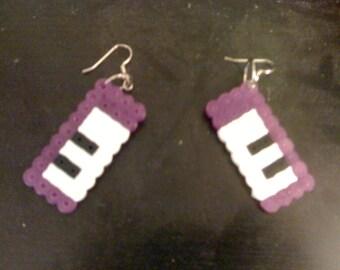 Perler Keyboard Earrings