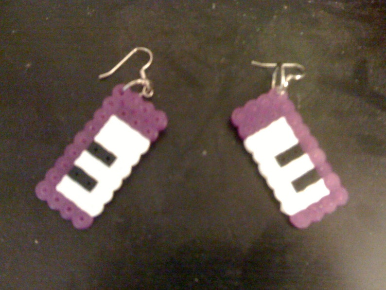 Perler Keyboard Earrings image 0