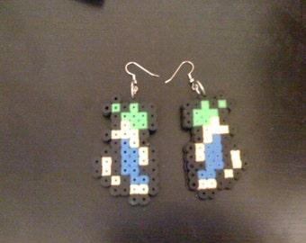 NES Perler Lemmings Earrings
