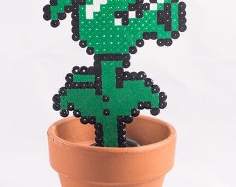 Perler Pea Shooter potted plant