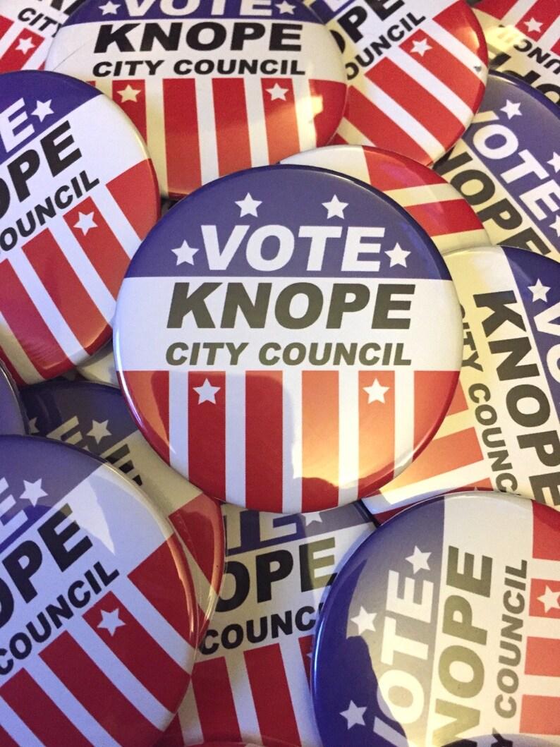 Leslie Knope Campaign Button image 0