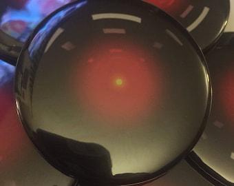 "Hal 9000 2.25"" pin"