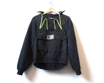 1b645fd713 black NEON 90s ski jacket made by ALPINE SKI