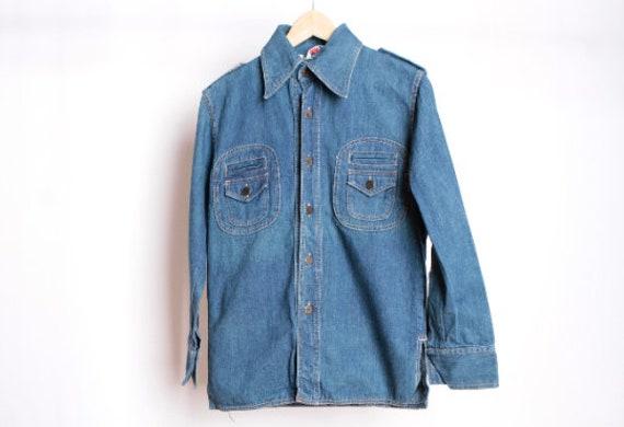 vintage 1960s 70s DENIM shirt/jacket LEVI style un