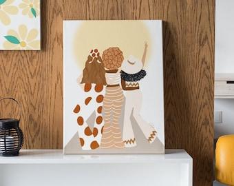Sunshine Friends - Canvas Art Print - Ready to hand/ wall art / art gallery / gallery wall/ home decor /