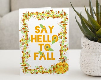 Say Hello To Fall - A Set of 5 Cards
