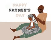 Doing hair on Father's Day