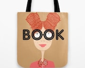 Book Smart Curly Readhead - Tote bag, shopping bag, school bag