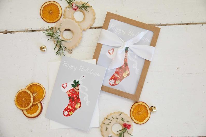 Half Baked Harvest x Etsy Holiday Stocking Set of Cards image 0