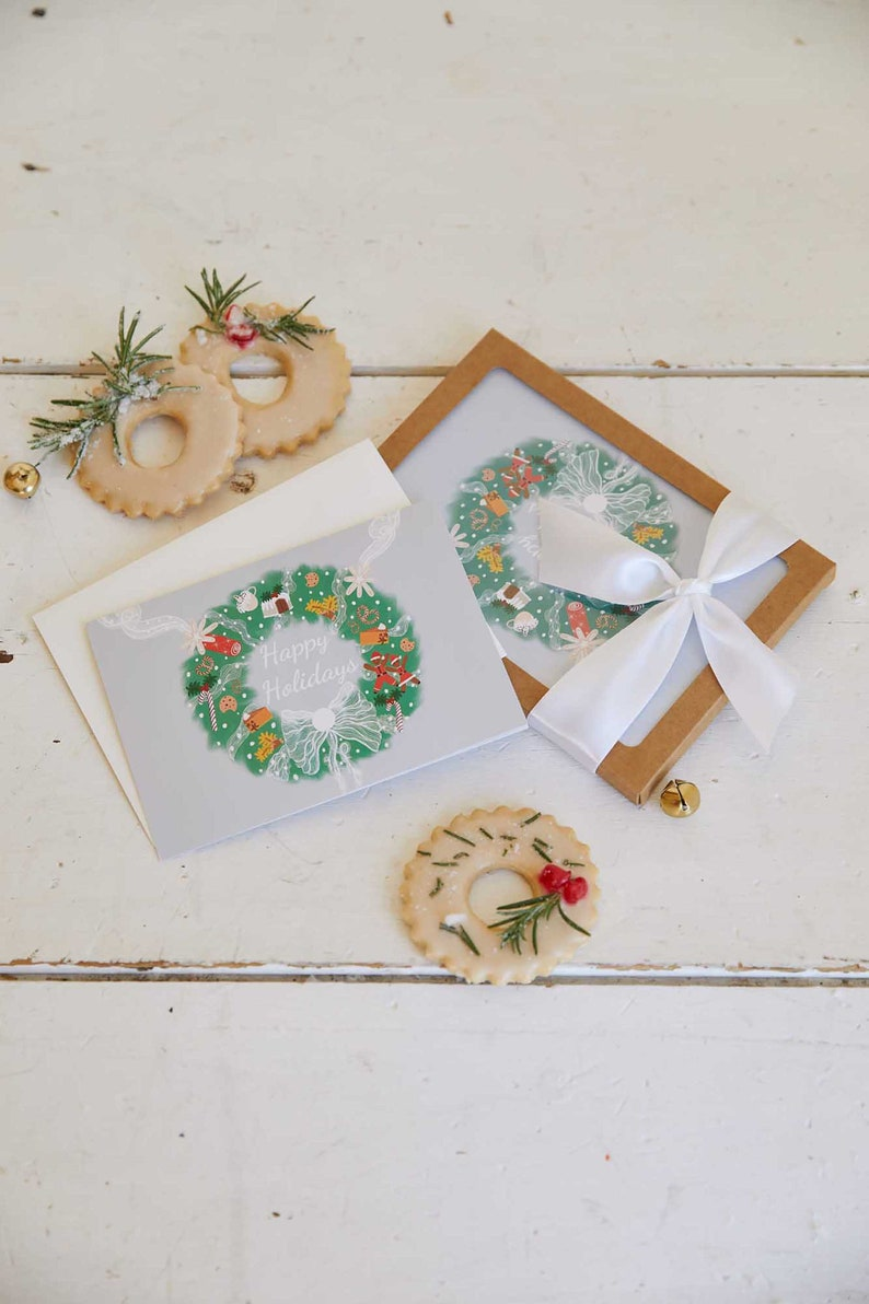 Half Baked Harvest x Etsy Holiday Wreath Set of Cards. image 0