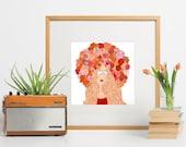 Flower Crowned Redhead