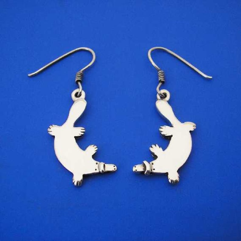 Hand Made Solid Silver Silver Platypus Cuff Links