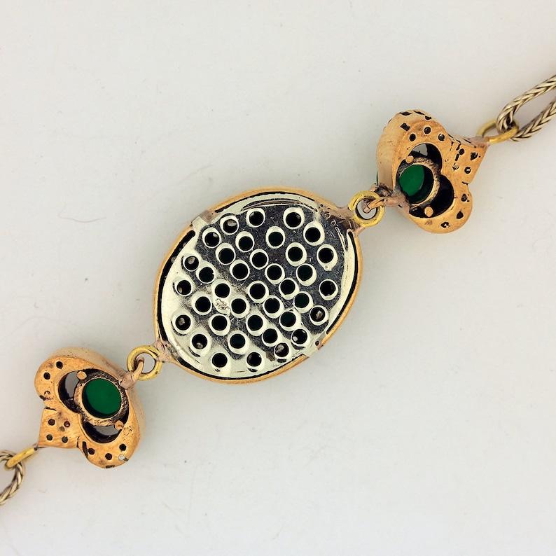 Emerald Topaz Silver Bracelet  925 Sterling Silver  Handmade Bracelets Jewelry