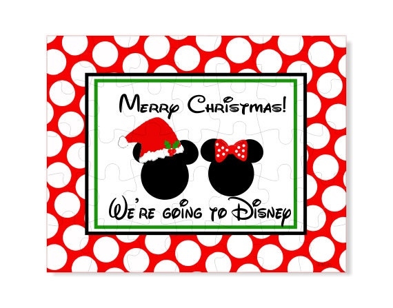 Personalized Puzzle Disney Announcement Create Your Own Etsy