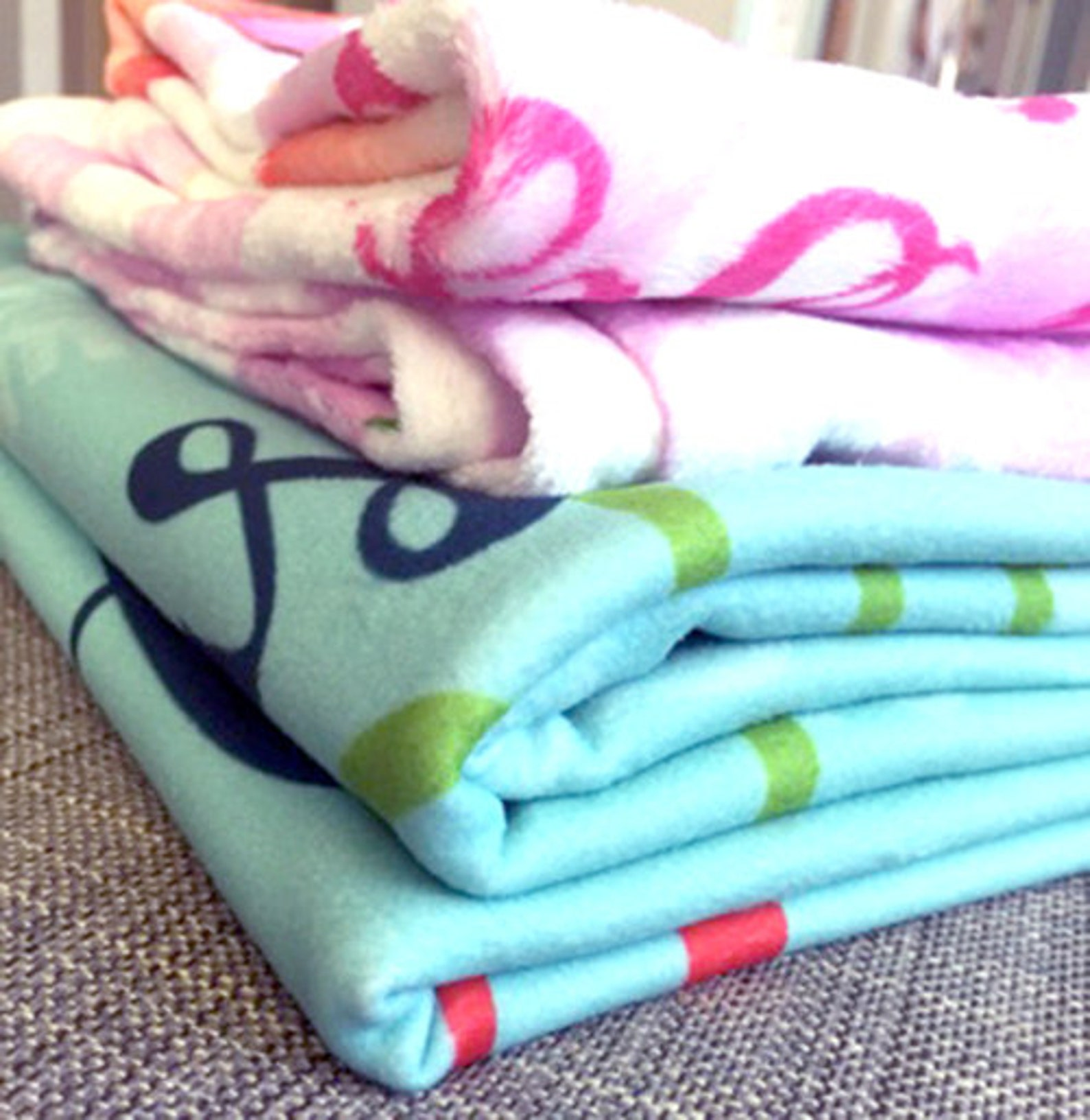 personalized throw blanket- pink ballet shoes blanket