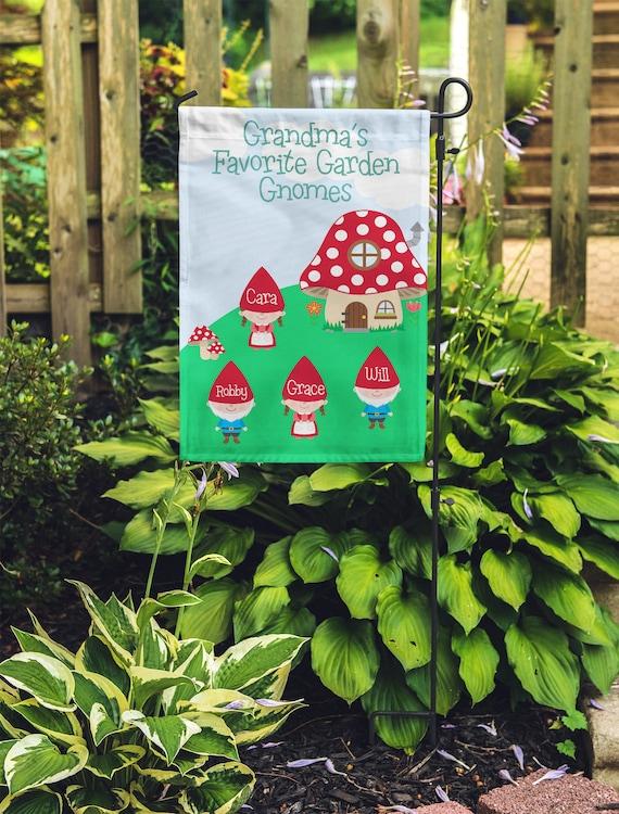 Personalized Garden Flag Custom monogram Yard Flag Grandmas | Etsy
