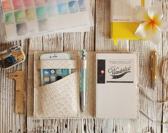 Leather Journal Cover. Pocket Moleskine cover. Agenda leather cover. Travel journal cover. Travel accessories. Travelers Notebook.