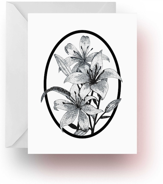 Pen and Ink Art Floral Note Cards Flower Stationery Flower Lover Gift Stationery Flower Note Cards Iris Note Cards Note Cards