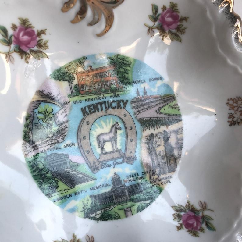 Sale Vintage Ceramic Dish  Kentucky Souvenir Catchall Bowl